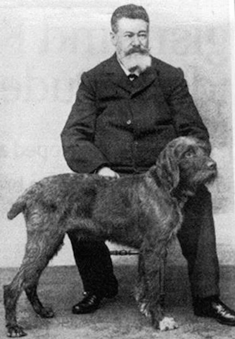 Pudelpointer with Sigismund Freiherr von Zedlitz und Neukirch