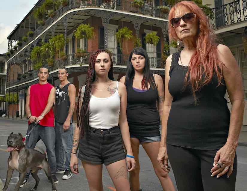 Tia Torres, Mariah Torres, Tania Torres with Kanani Torres and Keli'i Torres.
